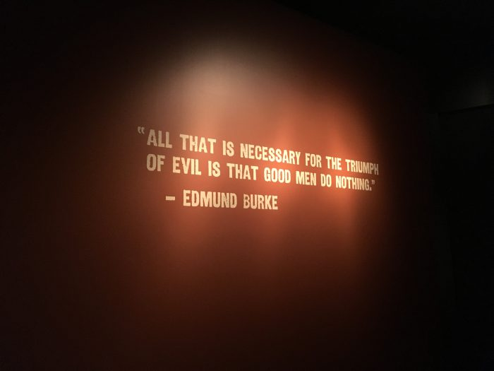 All that is necessary for the triumph of evil is that good men do nothing. - Edmund Burke