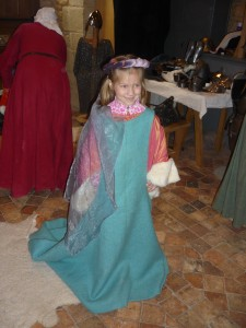 Here's my six year old cousin, Viviane, looking very medieval!