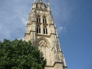 This is the bell tower of the Cathedral. It was built away from the Cathedral so the bell vibrations wouldn't damage it.