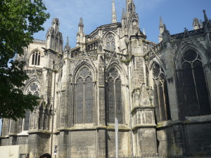 Here is the Cathedral, one of our first sights in France.