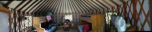 Our yurt with our things inside
